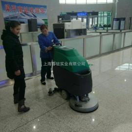 车站候车大厅用洗地机 物业保洁用洗地机 电动洗地机