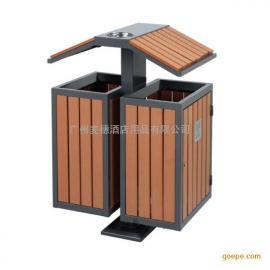 �敉猸h保P-P166�塑木分�垃圾桶