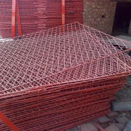 潘庄建筑外架钢笆片厂家-喷漆包边脚踏铁丝网规格、尺寸