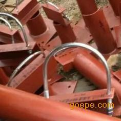 U型螺栓(带角钢)-碳钢镀锌带角铁U型螺栓-河北龙坤管道