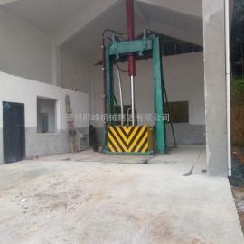两柱垂直式垃圾压缩设备,两柱单杠
