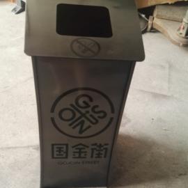 垃圾桶厂家 定制中山分类环保钢木垃圾桶 道路专用