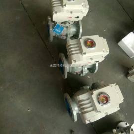 电动球阀结构图 浮动式电动球阀Q941F-64C