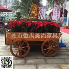 广场、购物街花车、实木花车、花箱 质量保证、产品美观大方