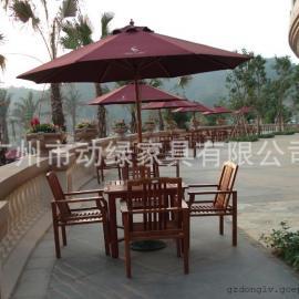 动绿户外家具之度假村休闲户外桌椅