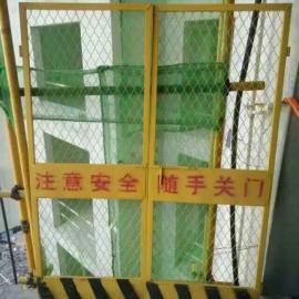 直销施工电梯防护门厂家定做电梯安全门防护栏