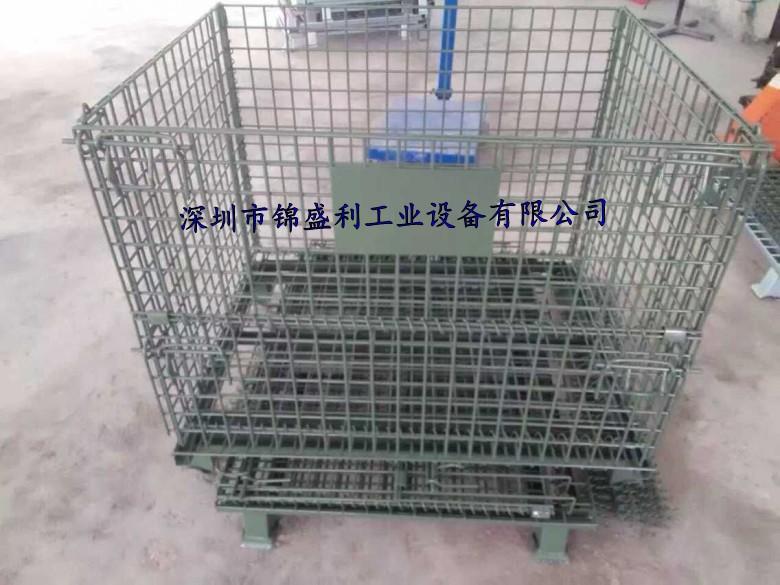 车间物料笼,可折叠仓储笼,可堆叠仓储铁笼,折叠式置物笼