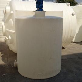 厂家直销500L药用反应设备 500L加药箱带搅拌机