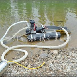 虹吸式小型淘金船 茂名一个人便能操作携带的河道淘金设备