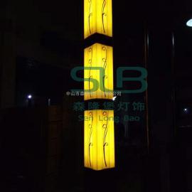 景观灯户外方形灯柱黄光绿化庭院灯3米景观灯柱广场公园仿古