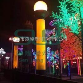 广场景观灯透光石灯柱大型户外园林仿云石庭院灯定做
