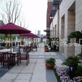 房地产开盘专用休闲桌椅、实木桌椅、花园桌椅、一桌四椅+太阳伞
