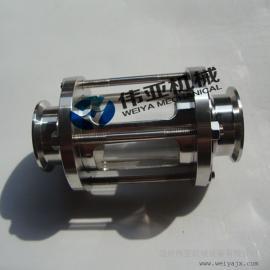 卫生级管道视镜 304快装管道视镜 玻璃管视镜特点