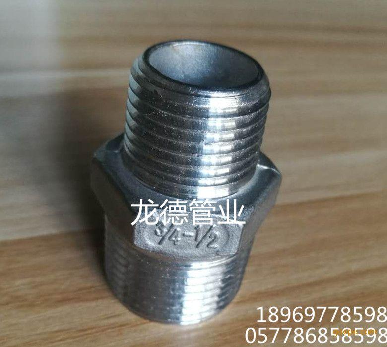 正304不锈钢外丝接头六角外丝内接头双头对丝直接短接直通