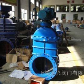 上海水兴Z945型电动暗杆高压法兰闸阀_暗杆高压电动法兰闸阀价格