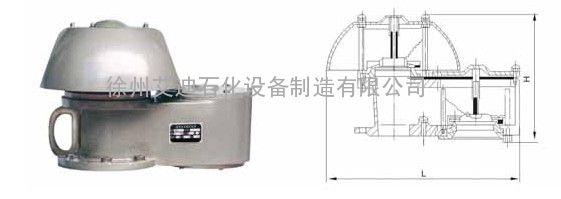 徐州艾迪碳钢88型呼吸阀德式呼吸阀通气量大法兰连接