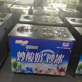 一个炒酸奶机器价格 双锅炒酸奶机器图片