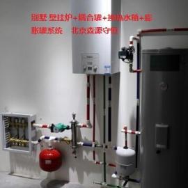 房子壁挂炉采暖热水系统
