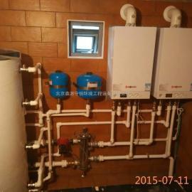 别墅壁挂炉采暖热水系统