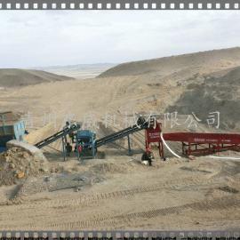 新西兰沙金淘金设备 DW溜槽淘金机 东威制造
