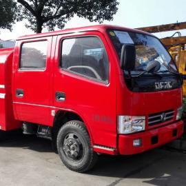 国五标准双排座1.5吨东风消防洒水车