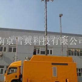 带云台的照明监控升降设备 车载升降杆