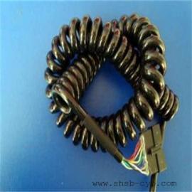 摊铺机弹簧电缆