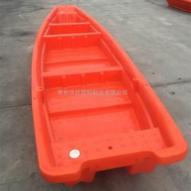 上高5米4米新款塑料渔船河道清理船双层塑料船生产厂家