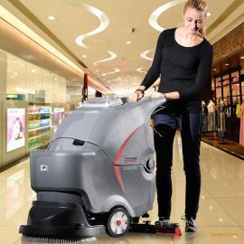 武汉高美手推电瓶式全自动中型洗地机/洗地吸水于一体
