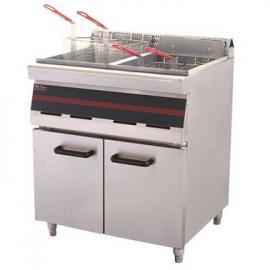 唯利安WFR3-8电炸炉连柜座 双缸四筛电炸炉 双缸电炸锅