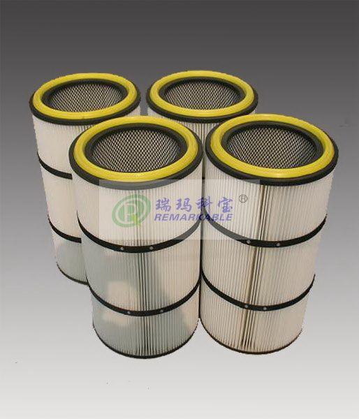 聚酯纤维无纺布滤筒粉尘滤芯除尘滤筒