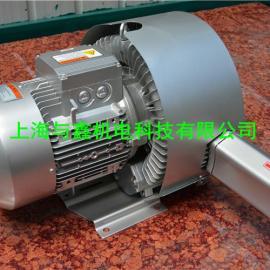 吉林 扶余 松原粮食扦样机用高压风机供应商、5.5KW双段旋涡气泵&