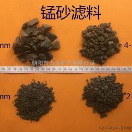 厂家直供1-2mm 2-4mm水处理用锰砂滤料