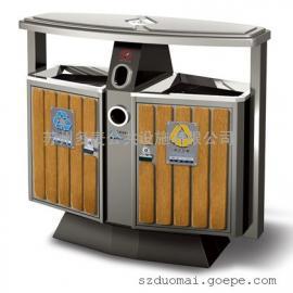 苏州防腐木垃圾桶厂家-苏州防腐木果皮箱厂家-分类垃圾桶批发