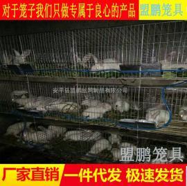 鸡鸽兔笼厂提供兔子笼安装步骤/三层十二位兔笼安装/子母笼