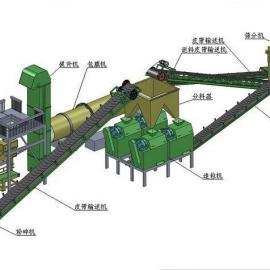 复合肥设备年产二万吨对辊挤压造粒机生产线