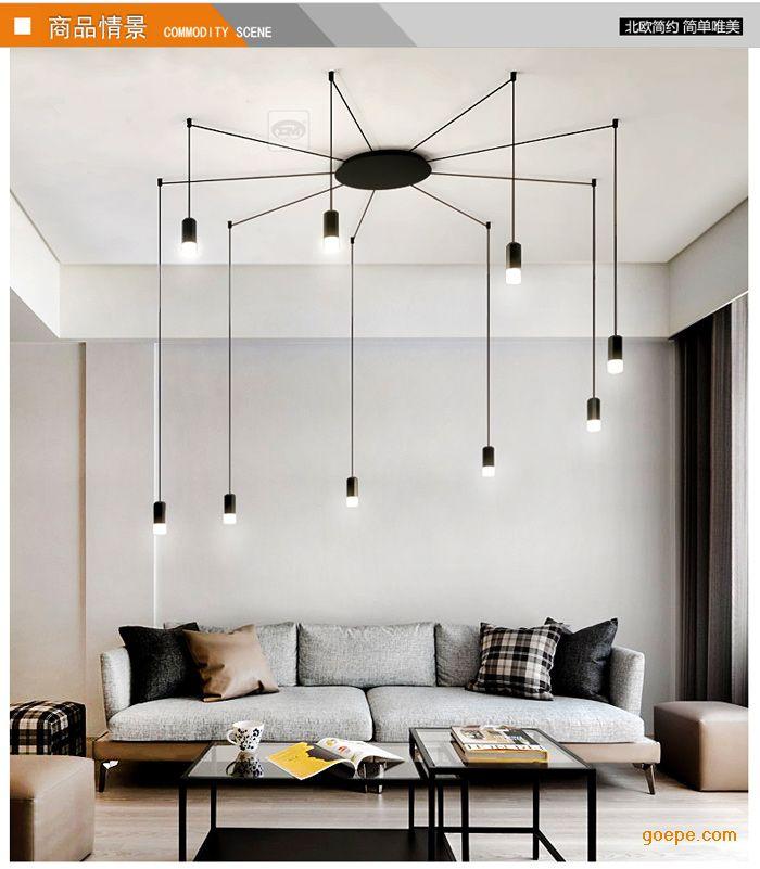 北欧后现代吊灯客厅个性时尚餐厅工业风别墅咖啡厅几何线条吊灯