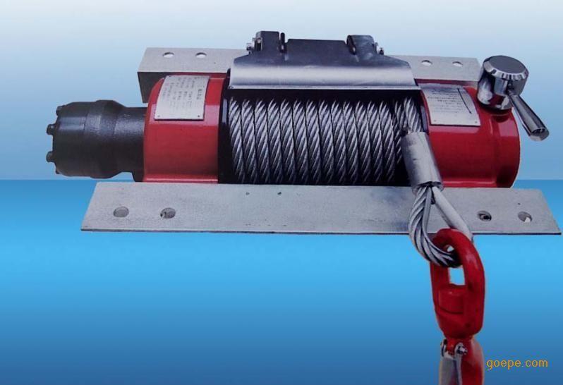 广西拉木车自救方法---自身安装清障液压绞盘图片