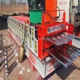 全自动彩钢瓦设备浩鑫840-900型双层压瓦机