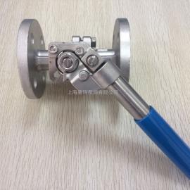 TQ41F不锈钢法兰弹簧复位球阀,弹簧自动归位法兰球阀