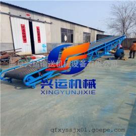 轻型粮食皮带输送机价格 醴陵市圆管主架V型槽皮带机图片