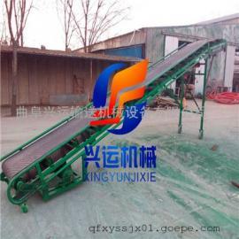 霸州圆管装车输送机,轮式移动皮带机,倾斜使用的皮带输送机