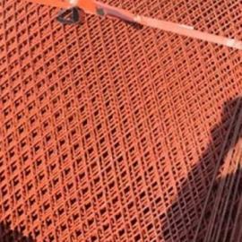 安陆绿色环保爬架菱形网片-脚踏钢板钢笆片镂空品质