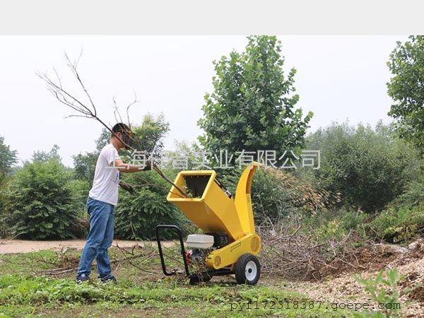 公园园林绿化专用大功率本田发动机树枝树叶粉碎机碎枝机