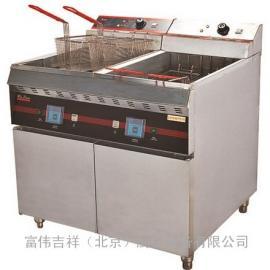 唯利安双缸电炸炉WYA-872 电炸炉连柜