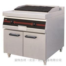 唯利安GEL90电火山石烧烤炉连柜座