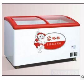 格林冷柜202Y 雪糕展示柜 水柜 格林冰柜 圆弧玻璃门