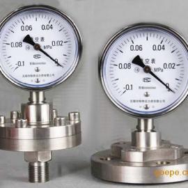 隔膜真空压力表型号规格,量程,精度,测量方法