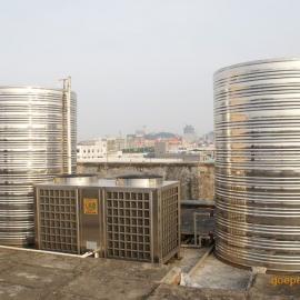 成都商用空气能中央热水器机组安装工厂工地员工洗澡使用
