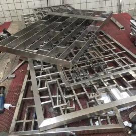 304不锈钢隔断屏风 镜面不锈钢黑钛金屏风